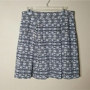 Lucy & Laurel Knit Skirt Black White Print Size 12